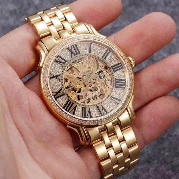 Đồng hồ nam mạ vàng cao cấp Patek Philippe PP05