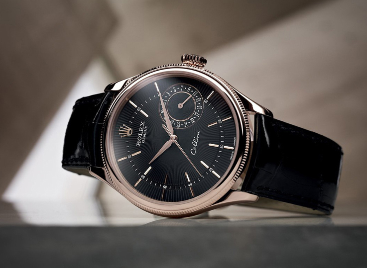 Đồng hồ nam Rolex Cellini Date Rose Gold Black 50515