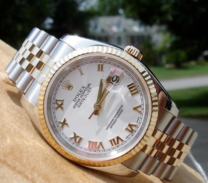 Đồng hồ nam Rolex Datejust 116233 White Roman