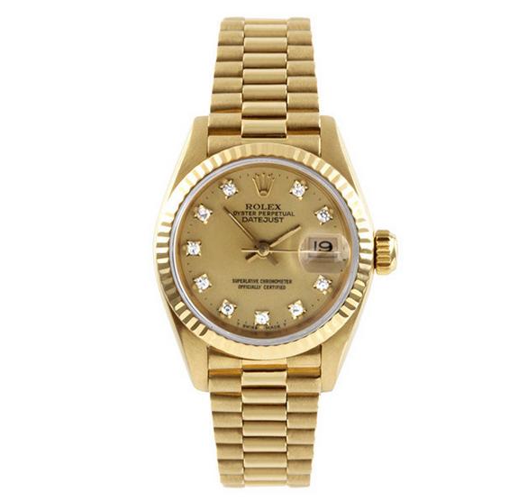 Đồng hồ nữ đính đá cao cấp Rolex Datejust RL03