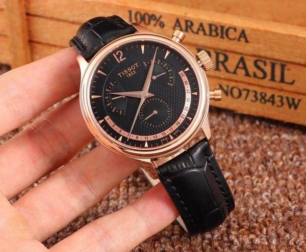 Đồng hồ nam dây da Tissot Quartz T063.637.36.057.00