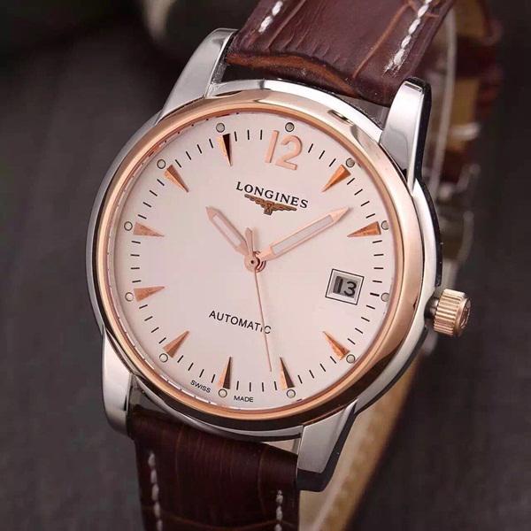 Đồng hồ nam dây da cao cấp Longines L2.763.5.72.0