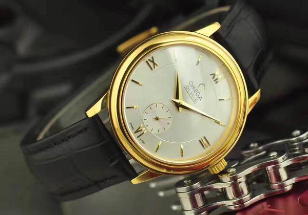 Đồng hồ nam dây da Omega Deville Automatic OM05