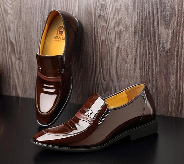 Giày nam da bóng cao cấp HN01