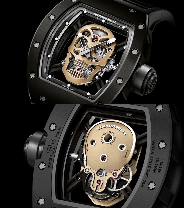 Đồng hồ đầu lâu Richard Mille Collection RM52 For Mens