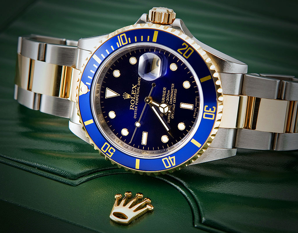 Rolex Blue and Gold Submariner