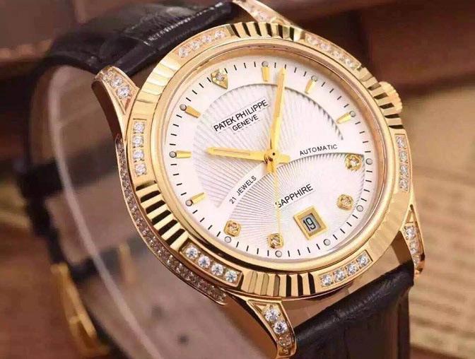 Đồng hồ nam mạ vàng cao cấp Patek Philippe PT12