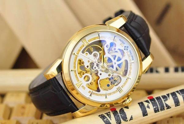 Đồng hồ nam dây da bò Patek Philippe PP06