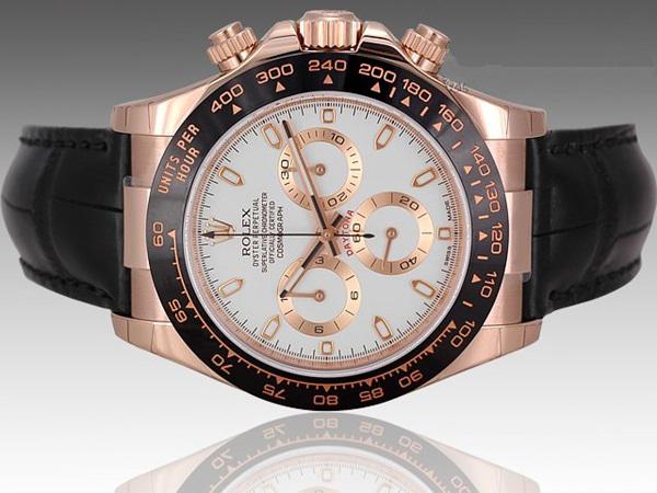 Đồng hồ dây da nam Rolex Daytona 116515 LN