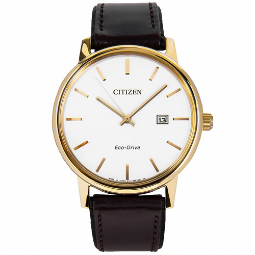 Đồng hồ nam mạ vàng Citizen Eco Drive BM6753-00A