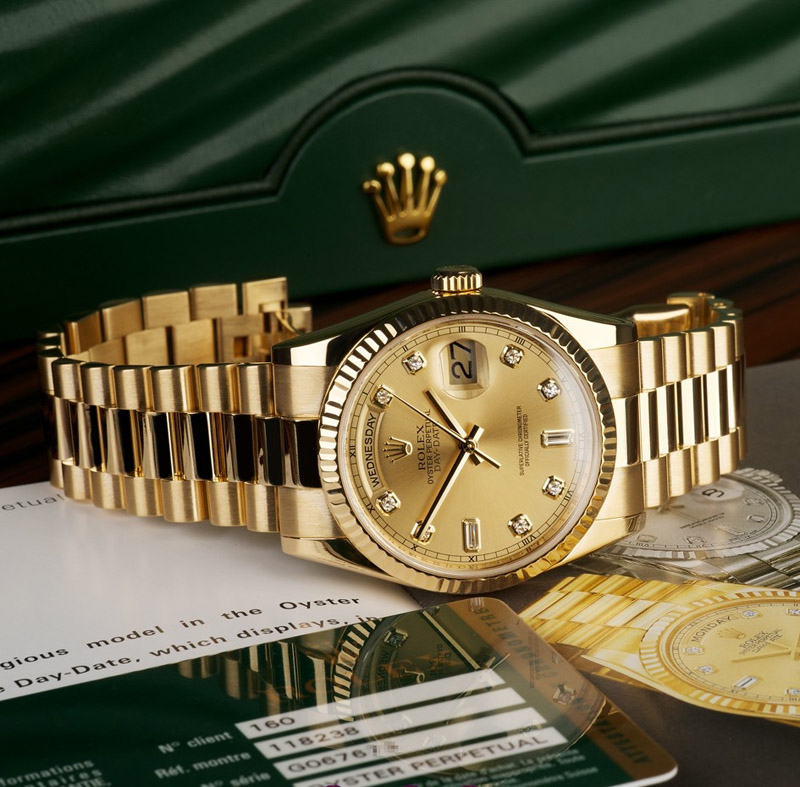 Đồng hồ nam cao cấp Rolex Day Date 118.238
