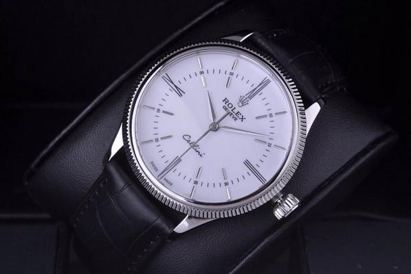 Đồng hồ nam cao cấp Rolex Geneve Cellini Time White 50509