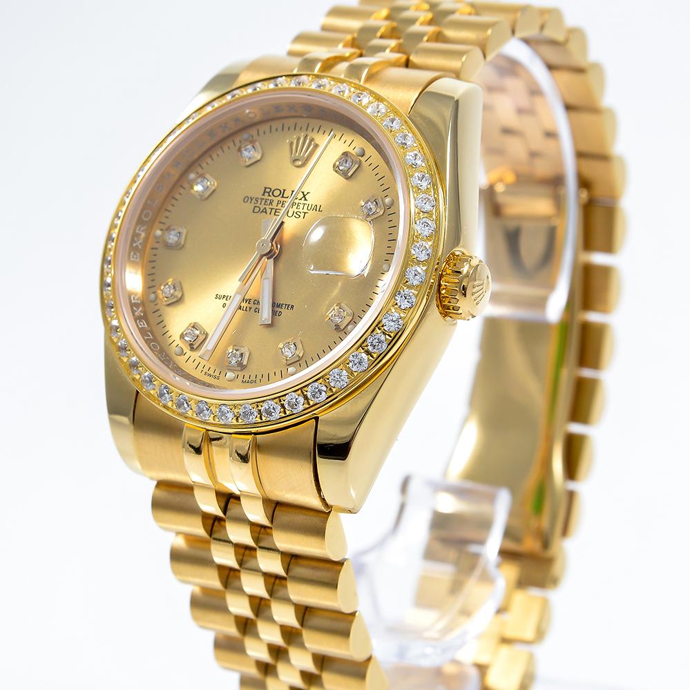 Đồng hồ nam Rolex DateJust RL8684 Gold Diamond
