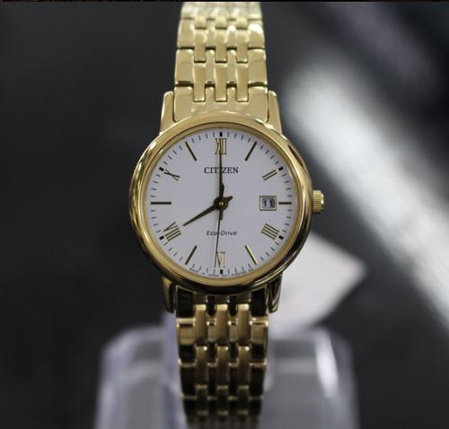 Đồng hồ nữ cao cấp Citizen Eco-Drive EW1582-54A