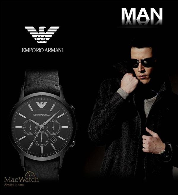 Đồng hồ nam dây da cao cấp Emporio Armani AR2461