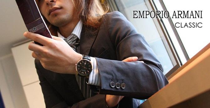 Đồng hồ nam dây da Emporio Armani Quartz AR2425