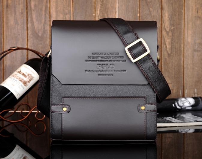 Túi da nam cao cấp Polo 39502A